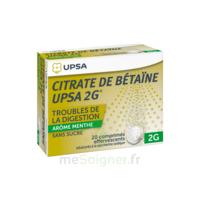 Citrate De Bétaïne Upsa 2 G Comprimés Effervescents Sans Sucre Menthe édulcoré à La Saccharine Sodique T/20 à Concarneau