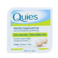 QUIES PROTECTION AUDITIVE CIRE NATURELLE 8 PAIRES à Concarneau