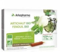 Arkofluide Bio Ultraextract Artichaut Fenouil Solution Buvable 20 Ampoules/10ml à Concarneau