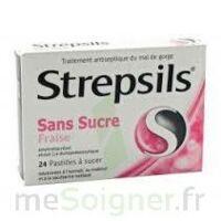 Strepsils Fraise Sans Sucre, Pastille édulcorée à L'isomalt, Au Maltitol Et à La Saccharine Sodique à Concarneau