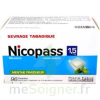 Nicopass 1,5 Mg Pastille Sans Sucre Menthe Fraîcheur Plq/96 à Concarneau