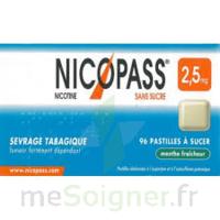Nicopass 2,5 Mg Pastille Menthe Fraîcheur Sans Sucre Plq/36 à Concarneau