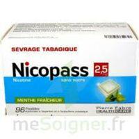 Nicopass 2,5 Mg Pastille Menthe Fraîcheur Sans Sucre Plq/96 à Concarneau