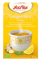 Yogi Tea Tisane Ayurvédique Gingembre Citron Bio 17 Sachets/1,8g à Concarneau