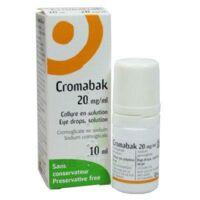 Cromabak 20 Mg/ml, Collyre En Solution à Concarneau