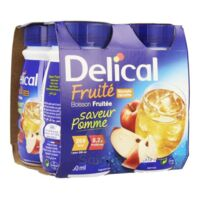 Delical Boisson Fruitee Nutriment Pomme 4bouteilles/200ml à Concarneau