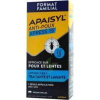 Apaisyl Anti-poux Xpress 15' Lotion Antipoux Et Lente 200ml+peigne à Concarneau